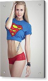 #kim #supergirl Acrylic Print by ItzKirb Photography