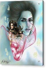 Kim The Mermaid Acrylic Print by Scarlett Royal
