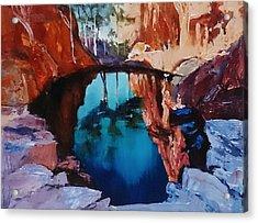 Kimberley Ponds Acrylic Print by Kathy  Karas