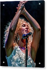 Kimberly Schlapman Acrylic Print by Bill Gallagher