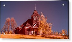 Kimberly School House Infrared False Color Acrylic Print by Paul Freidlund
