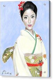 Kimono Girl No.2 Acrylic Print by Yoshiyuki Uchida