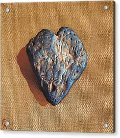 Kind Heart Acrylic Print by Elena Kolotusha