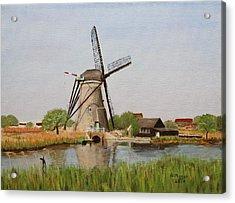 Kinderdijk Classic Acrylic Print