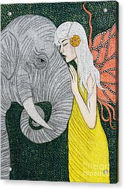 Acrylic Print featuring the painting Kindred Souls by Natalie Briney