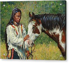 Kindred Spirits Acrylic Print by Jim Clements