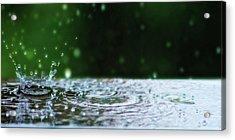 Kinetic Raindrops Acrylic Print by Lisa Knechtel