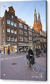 king a Walk in the Streets of Amsterdam Acrylic Print by Andre Goncalves