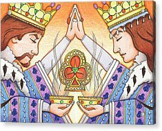 King And Queen Of Clubs Acrylic Print by Amy S Turner
