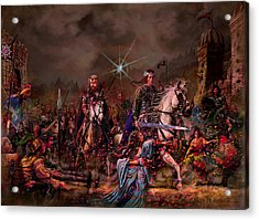Acrylic Print featuring the painting King Arthur Returns by Steve Roberts