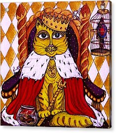 Acrylic Print featuring the painting King Cat  by Rae Chichilnitsky