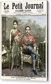 Acrylic Print featuring the drawing King Chulalongkorn by Granger