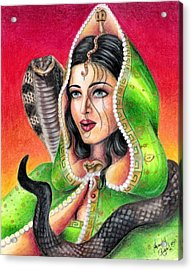 King Cobra Acrylic Print by Scarlett Royal