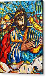 Acrylic Print featuring the painting King David by Rae Chichilnitsky