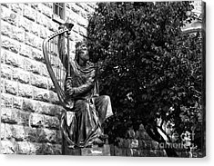 King David Statue Acrylic Print by John Rizzuto