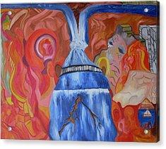 King Falls Acrylic Print by Joseph  Arico