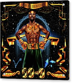 King Floyd Mayweather Acrylic Print by Kenal Louis