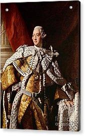 King George IIi Acrylic Print by Allan Ramsay