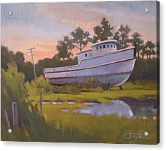 King George's Boat Acrylic Print by Todd Baxter