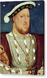 King Henry Viii  Acrylic Print by Hans Holbein