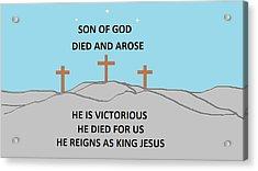 King Jesus Acrylic Print by Linda Velasquez