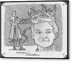 King Joffrey Baratheon Acrylic Print