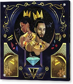 King Kasseem And Queen Alica Acrylic Print by Kenal Louis