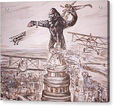 King Kong - Atop The Empire State Building Acrylic Print