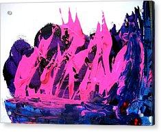 King Kong Attacks Phantom Pink Sail Boat Acrylic Print by Bruce Combs - REACH BEYOND