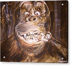 King Kong - Deleted Scene - Kong With Native Acrylic Print