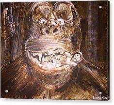 King Kong - Deleted Scene - Kong With Native Acrylic Print