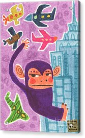 King Kong Acrylic Print by Kate Cosgrove