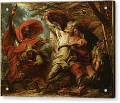 King Lear Acrylic Print by Benjamin West