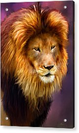 King Acrylic Print by Michael Greenaway