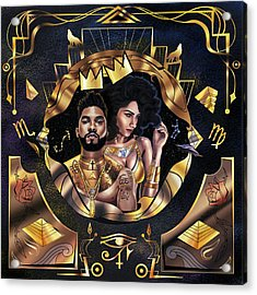 King Miguel And Queen Nazanin Acrylic Print by Kenal Louis