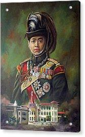 King Mongkut Acrylic Print by Chonkhet Phanwichien
