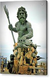 King Neptune Statue Acrylic Print