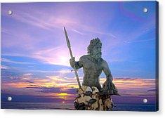King Neptune's Sunrise Acrylic Print