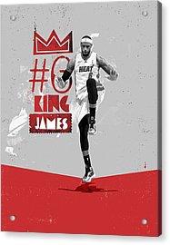 King Of Basketball Acrylic Print by Jeric Barnutz