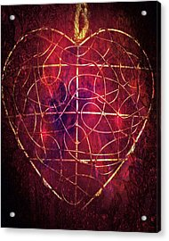 King Of Hearts Acrylic Print by Linda Sannuti