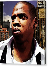 King Of New York Acrylic Print by The DigArtisT