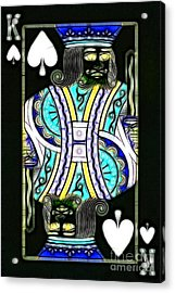 King Of Spades - V2 Acrylic Print by Wingsdomain Art and Photography