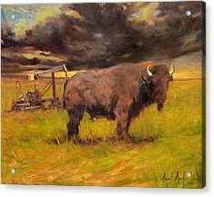 King Of The Prairie Acrylic Print by Margaret Aycock