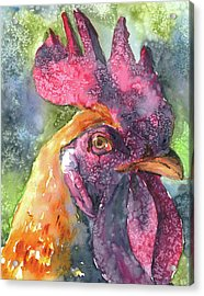 King Of The Roost Acrylic Print by P Maure Bausch