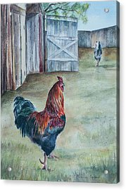 King Of The Roost Acrylic Print by Valentina Copeland