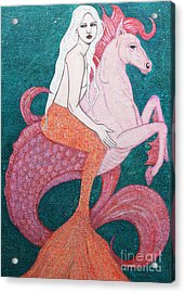 Acrylic Print featuring the mixed media King Of The Sea by Natalie Briney
