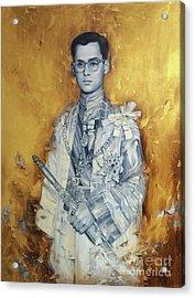 King Bhumibol Acrylic Print by Chonkhet Phanwichien