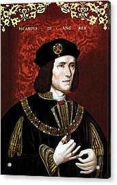 King Richard IIi Of England Acrylic Print by War Is Hell Store