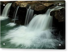 King River Falls In Spring Acrylic Print by Iris Greenwell