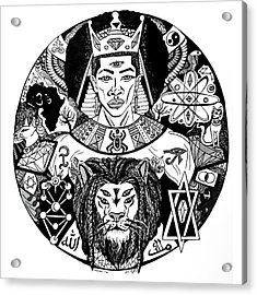 King Solomon And Lion Of Judah Drawing Acrylic Print by Kenal Louis